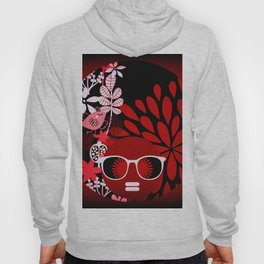 Afro Diva : Sophisticated Lady Red Hoody