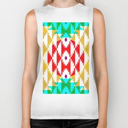 050 - traditional pattern interpretation with golden foil Biker Tank