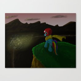 Hope Rides 20% More Alone Canvas Print