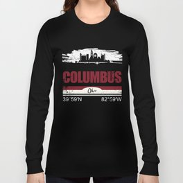 Columbus GPS Coordinates Shirts Ohio Gifts Long Sleeve T-shirt