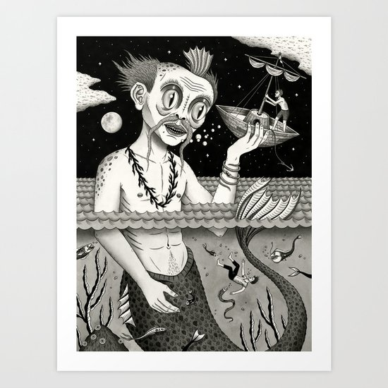 Hijacking on the High Sea Art Print