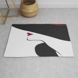 Retro Fashion; Glamour Lady with Black Hat Rug