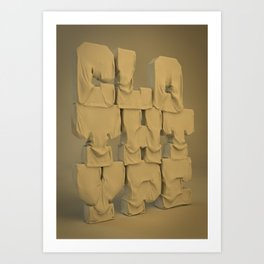 Cloth type Art Print