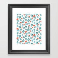 Floral Leaf Pattern Framed Art Print