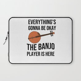 Funny Banjo Player Gifts | Bluegrass Lover Laptop Sleeve