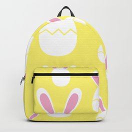 Happy Bunnies in Yellow | Easter Bunny | Easter Egg Bunny | pulps of wood Backpack