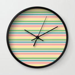 Toucan Peach Stripe Coordinate Wall Clock