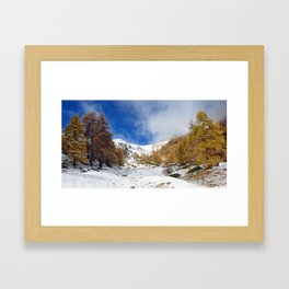 Fire In The Snow Framed Art Print