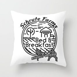 BnB and Self Defense Throw Pillow