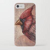 cardinal iPhone & iPod Cases featuring Cardinal by Werk of Art