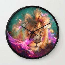Lions Eating Galaxies Wall Clock