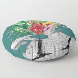 portriat floral Floor Pillow