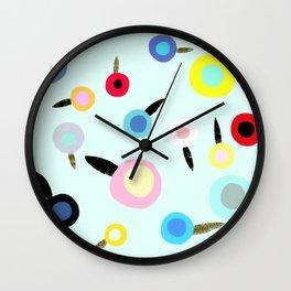 Summer wine poppies Wall Clock