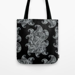 White and Black Zentangle Tote Bag