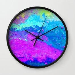Abstract Beautiful Sink Paint Mess 2019 Wall Clock