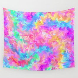smudged rainbow Wall Tapestry