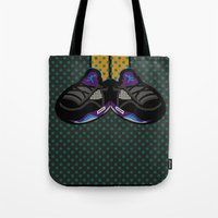 air jordan Tote Bags featuring AIR JORDAN 5 BLACK by originalitypieces