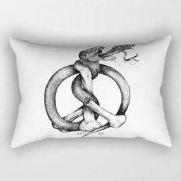 Believe the Dogma - No Peace Rectangular Pillow