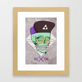 Hell Yeah Skull 3 Framed Art Print