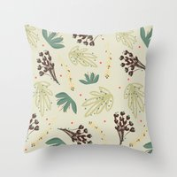leaf Throw Pillows featuring leaf by Ceren Aksu Dikenci