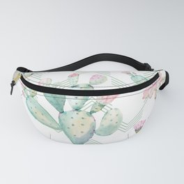 Cactus Chevron Southwestern Watercolor Fanny Pack