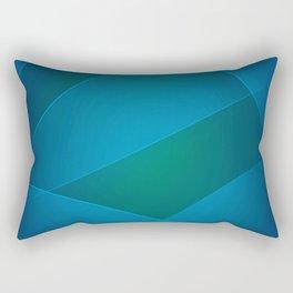 Venice Blue, Teal Blue & Deep Cerulean Colors Rectangular Pillow