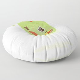 Ghostbusters - Slimer - You'll Ruin Your Dinner. Floor Pillow