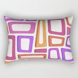 Tiki Mid Century Abstract Rectangular Pillow