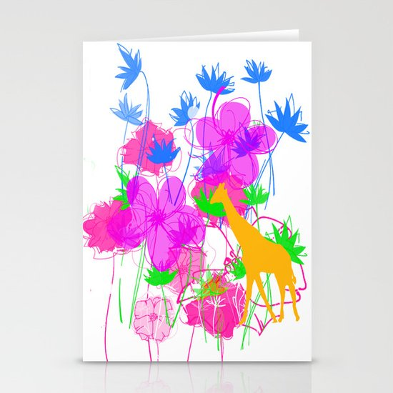 Yellow Giraffe Stationery Cards