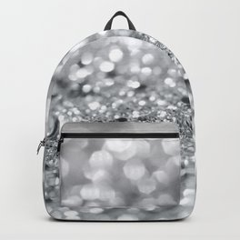 Silver Gray Lady Glitter #1 #shiny #decor #art #society6 Backpack