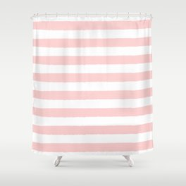 Pink and white stripes Shower CurtainShower Curtains by Allyson Johnson   Society6. Pink And White Striped Shower Curtain. Home Design Ideas