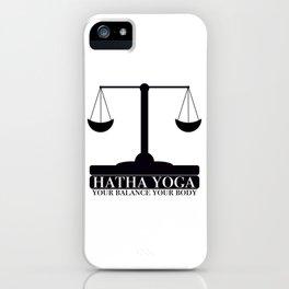 Hatha Yoga iPhone Case