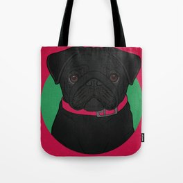 Icons of the Dog Park: Black Pug Design in Bold Colors for Pet Lovers Tote Bag