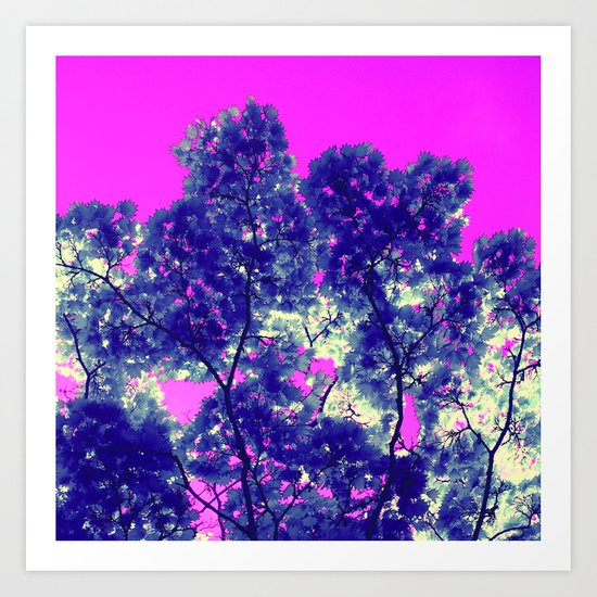 blue tree VII Art Print