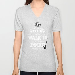 Chef Cook Cooking Walk In Take A Mop Kitchen Gift Unisex V-Neck