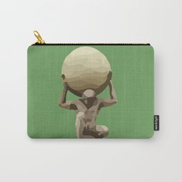 Man with Big Ball Illustration green Carry-All Pouch
