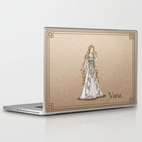 valar morghulis Laptop & iPad Skins featuring Vana by wolfanita