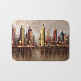 Skycrapers With Water View Bath Mat