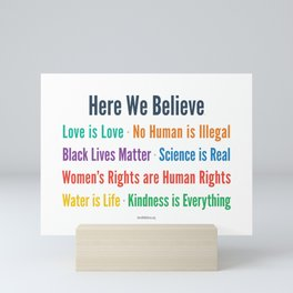 Here We Believe Mini Art Print