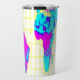 World Map: Gall Peters Colorful Travel Mug
