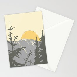 Ski Mountain Sun and Trees - Breckenridge  Stationery Cards