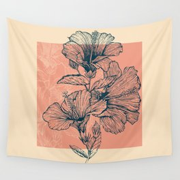 Hibiscus Colors Wall Tapestry