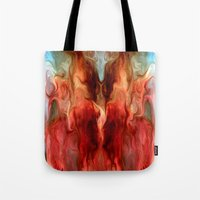 pagan Tote Bags featuring Pagan by rafi talby by Rafi Talby - Painter