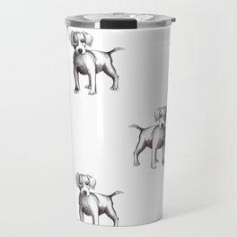 dog drawing Travel Mug