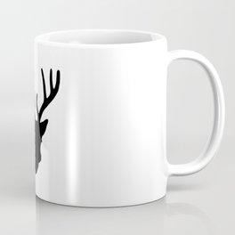Deer Head: Black Coffee Mug