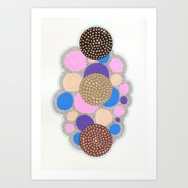 Decorated Brownies Art Print