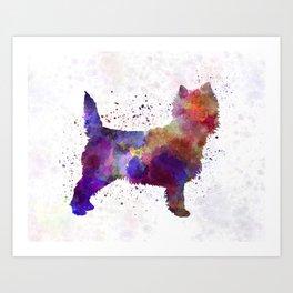 Cairn Terrier in watercolor Art Print