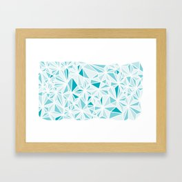 geo blue Framed Art Print