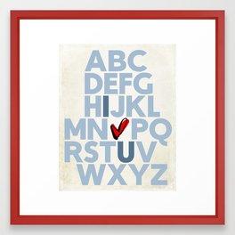 ABC... I love you (Blue) Framed Art Print