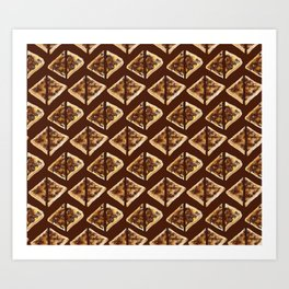 All the Vegemite on Toast in Brown Art Print